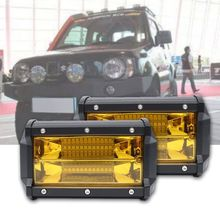 2 шт. водонепроницаемый 5 дюймов 72 Вт Светодиодный светильник для вождения противотуманных фар внедорожника