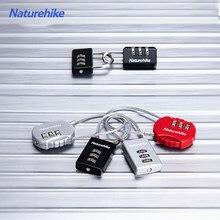 Naturehike Mini 3-cyfrowe hasło bezpieczne połączenie kłódka przed kradzieżą szafa zamek ze stopu cynku plecak bagaż lina stalowa blokada