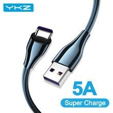 YKZ-Cable USB de carga rápida para móvil, Cable de carga rápida tipo C 5A, para Huawei P40, P30, Mate, 40 Pro, Samsung QC 3.0 Charging 5V/4.5A 4.5A/5A QC3.0