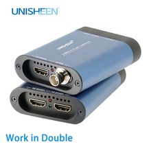 USB3.0 60FPS DUAL SDI HDMI VIDEO CAPTURE FPGA Grabber Dongle Game Streaming Live Broadcast 1080P OBS vMix Wirecast Xsplit