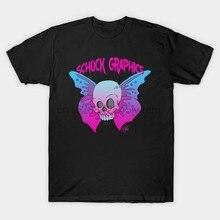Männer t-shirt kurzarm Schock Grafiken original Skullerfly Schädel T Shirt (1) t tops Frauen t-shirt