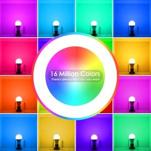 Image 5 - 15W Thông Minh Bóng Đèn RGB Trắng 220V Magic Light 110V LED E27 Wifi Bóng Đèn Chức Năng Hẹn Giờ công Việc Alexa Google Home Điện Thoại Thông Minh