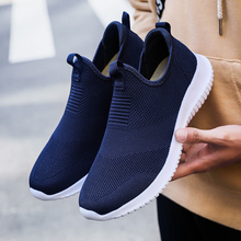 Man women Knitting Sock Sneakers Slip-on loafers Walking Breathable Casual Spring Summer soft Flat Shoes Plus Size 35-48
