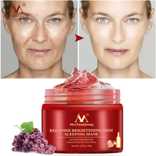 Red Wine Essence Sleeping Facial Mask Whitening Nourishing Mask Moisturizing Nutrition repair   the skin Gel Night 1kg hyaluronic acid moisturizing mask 1000g whitening lock water repair disposable sleeping cosmetics beauty salon products oem