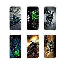 Kawasaki Ninja Zx R deporte de la motocicleta cubiertas del teléfono celular para Apple iPhone X XR XS MAX 4 4S 5 5S 5C SE 6 6S 7 7 Plus ipod touch 5 6