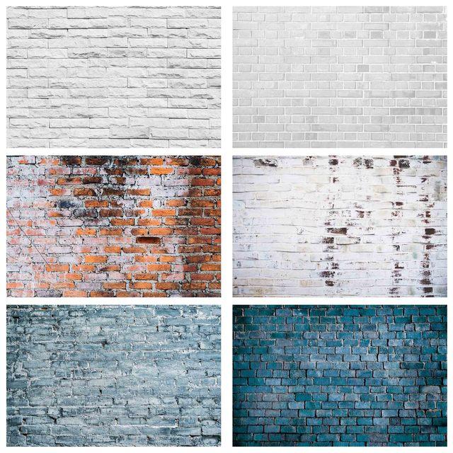 Fondos de fotografía de pared de ladrillo blanco gris fondos de tela de vinilo para estudio fotográfico fotofono vídeo retrato fiesta cumpleaños