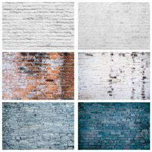 Grey White Brick Wall Photography Backgrounds Vinyl Cloth Backdrops for Photo Studio Photophone Video Portrait Party Birthday