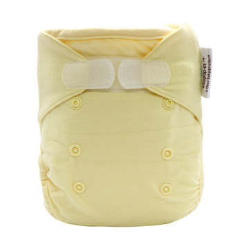 yellow reusable cotton bamboo diapers