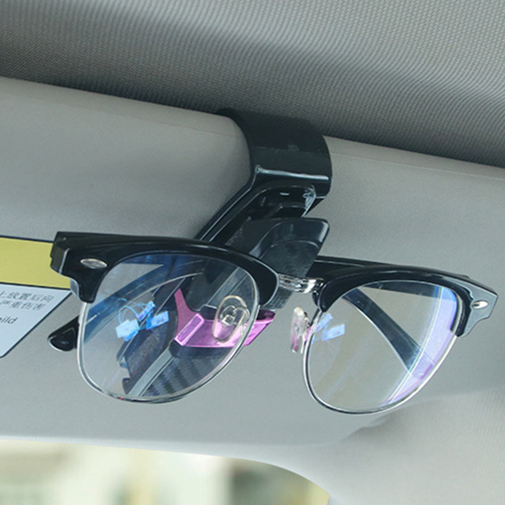 Car Sun Visor Glasses Case Sunglasses Storage Holder Eyeglasses Mount Clip Automotive Accessories