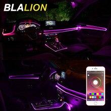 Tira de luces Led de neón para El Interior del coche, luz ambiental RGB para El coche, lámpara de ambiente colorida con Control por aplicación, accesorios decorativos para El Interior del coche