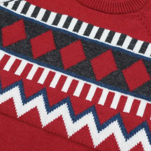 Wool-Blend Sweater with geometrical patterns