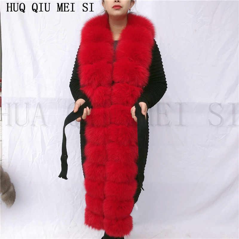 Женская парка, зимнее пальто, женское шерстяное вязаное осеннее меховое пальто, меховая куртка, натуральный мех для рукоделия, вязаное пальто из лисьего меха, меховой жилет