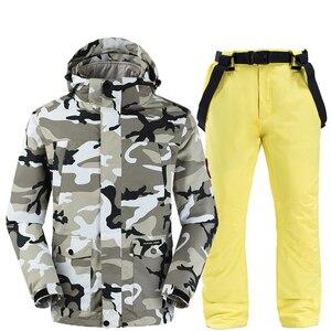 Image 5 - Camouflage ski jacken und hosen frauen ski anzug snowboard kits sehr warme winddicht wasserdichte winter im freien kleidung