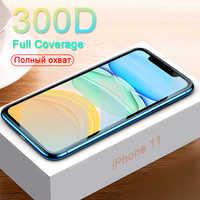 Cristal protector 300D en El para iPhone 11 Pro X XS MAX 11 cubierta completa de vidrio iPhone 11 Pro Max protector de pantalla XR de vidrio templado