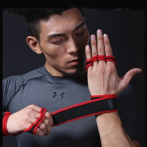 1 Pair Gym Gloves Weight Lifting Training Gloves Women Men Fitness Sports Body Building Gymnastics Grips Gym Hand Palm Protector(China)