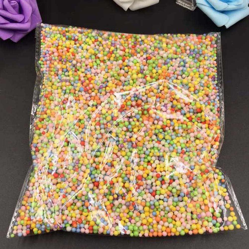 Novo frete grátis sortidas cores poliestireno isopor enchimento espuma mini contas bolas artesanato festa de casamento em casa decoração