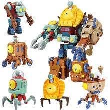 Grandes plantas genuínas vs zumbis brinquedos 2 transformador robô de brinquedo gigante kong zombie rei natal presentes aniversário para crianças