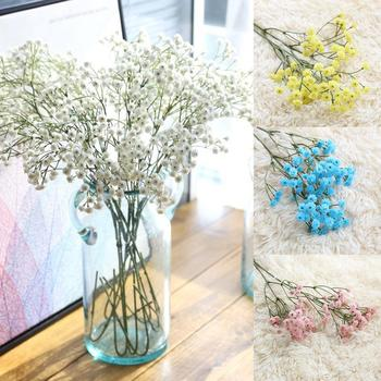 1 Pc Gypsophila Plastic Artificial Flower Romantic Wedding Party Home Decor Weddings Stages Bedrooms Parks Offices Dining Rooms image