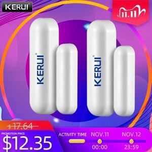 Image 1 - KERUI 2 шт. 433 МГц портативный датчик сигнализации для умного дома, s детекторы, беспроводной магнитный датчик двери для окон, датчик для системы сигнализации Kerui