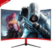 Monitor de 27 pulgadas para gamer, pantalla curva LCD para PC, 1920x1080p, HD, para ordenador de escritorio, pantalla HDMI