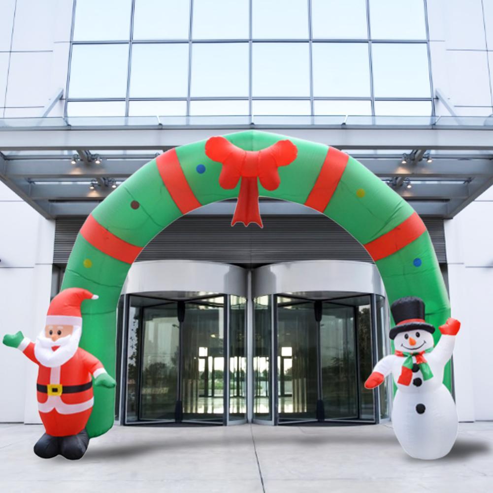 Estilo de natal Arcos de Balão Loja Casa Feliz Decoração de Natal Arco Inflável Papai Noel Xmas Party Ornamento 3D - 2