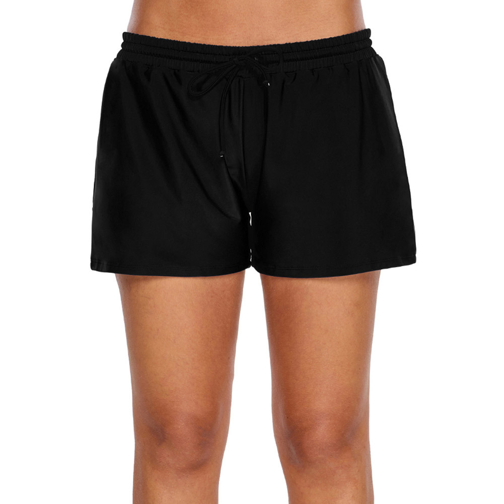 Elastic Band High-waisted Four Corners Shorts Loose-Fit Sweat-wicking Swimming Trunks Simple Fashion Yoga Pants Sports Casual Sh