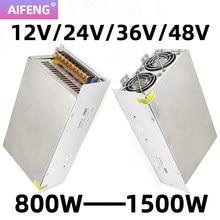 Transformador de iluminação ac 230v 240v 220v para dc 12v/24v/36v/48v adaptador de alimentação 800w-1500w cctv switch driver fonte de alimentação