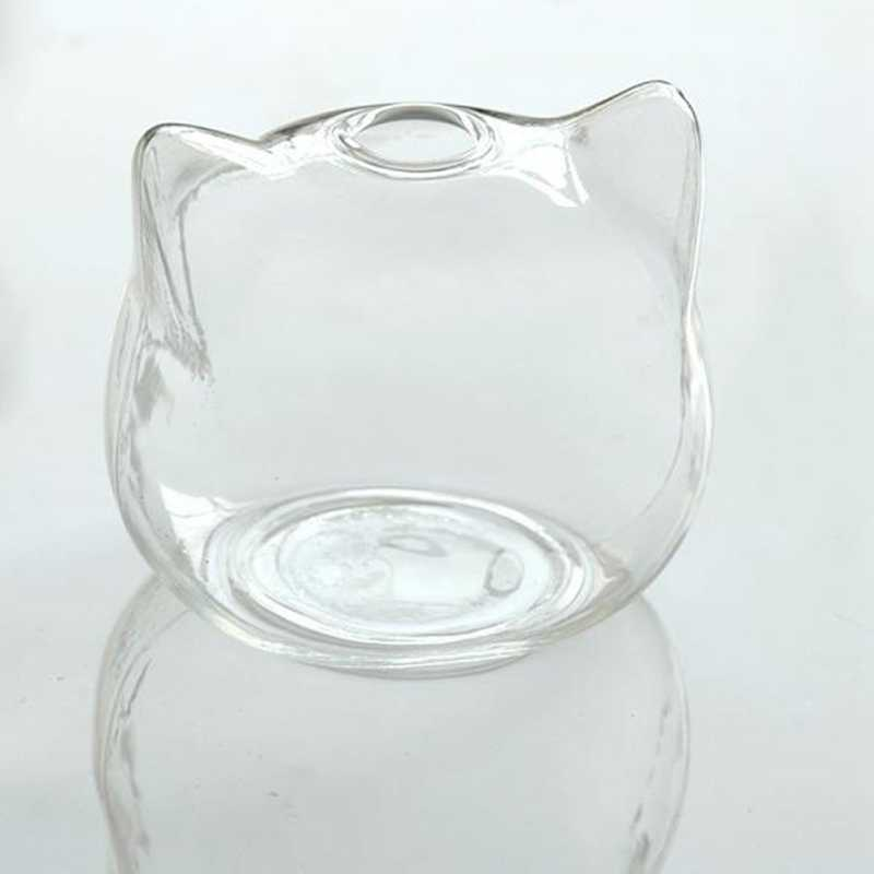 Кошка в форме стеклянная гидропонная Ваза Цветочная ваза для растений Террариум контейнерный горшок Декор художественный подарок