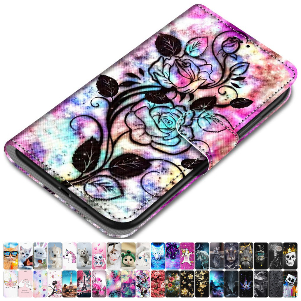 For <font><b>Case</b></font> <font><b>Samsung</b></font> Galaxy A50 A500 A510 A520 <font><b>A5</b></font> 2015 2016 2017 Leather Phone Cover Animal Floral Lovely Girl Boy <font><b>Magnetic</b></font> Box O08F image