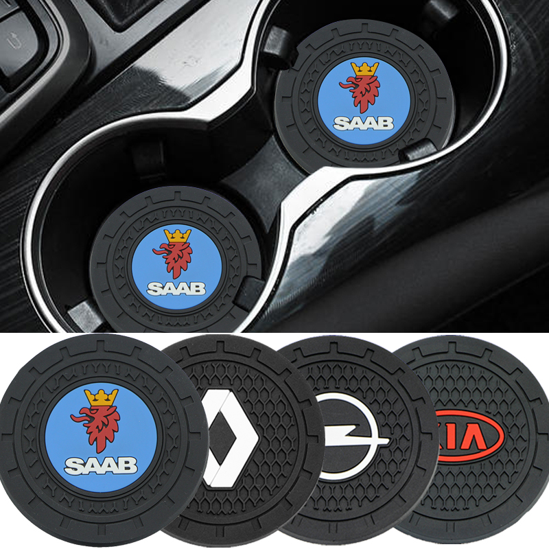 Tapis porte-gobelet antidérapant pour voiture, 1 pièce, dessous de verre pour Skoda Octavia kodiaqia Fabia Rapid Superb A5 A7 2 Kamiq Karoq