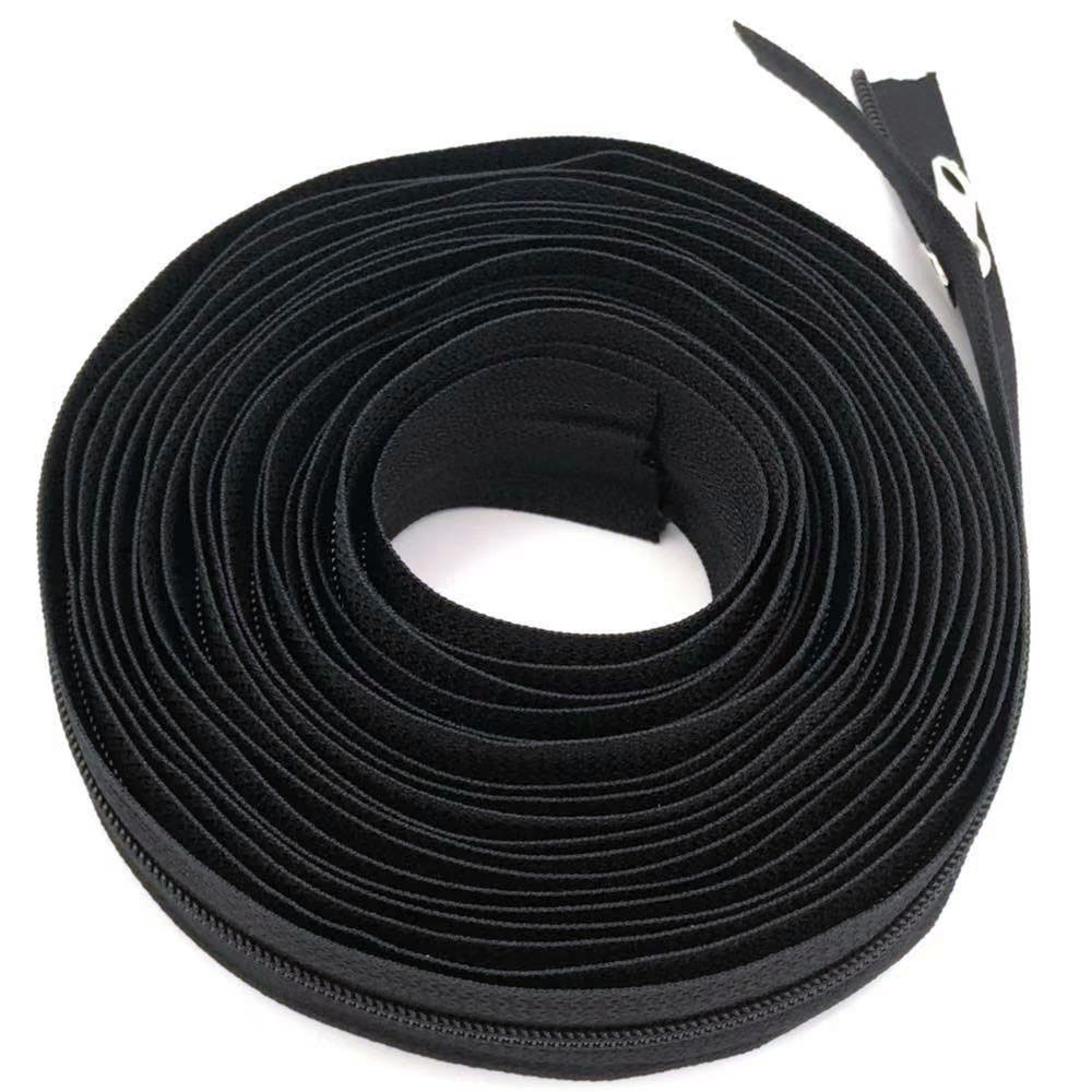 3 Meters 3# Nylon Coil Zippers Bulk with 5pcs Zipper Slider - for costume design, clothing, other handicraft. image