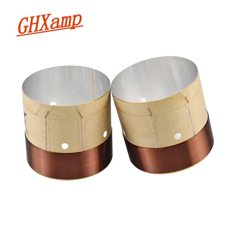 GHXAMP 51.5 Core Woofer Voice coil ASV White Aluminum For 10 inch 12 inch 15 inch Bass Coil Speaker Repair Accessories DIY 2PCS