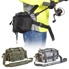 Multifunctional Fishing Tackle Bag Outdoor Sports Single Shoulder Bag Crossbody Bag Waist Pack Fishing Lures Tackle Gear Bags