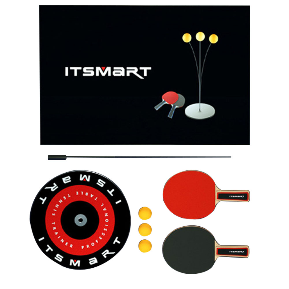 Portable Trainer Shaft Indoor Outdoor Sport Elastic Table Tennis Set Pingpong Ball Quick Rebound Leisure Equipment Paddle