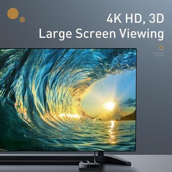 Baseus 4K HD Switch HDMI-compat Adapter for Xiaomi Mi Box HD Switcher 1x2/2x1 for PS4/3 TV Box Switch 4K HD Bi-Direction Switch 2