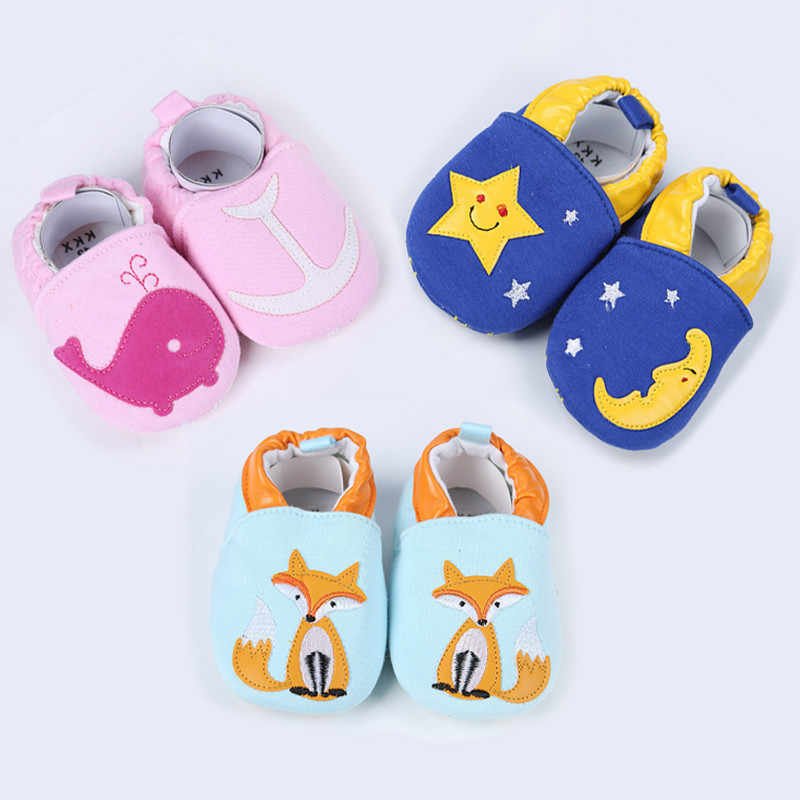 Kid Girls Boy First Walkers Soft Infant Toddler Shoes Cute Flower Soles Crib Shoes Footwear for Newborns Baby Shoes Animal Flats