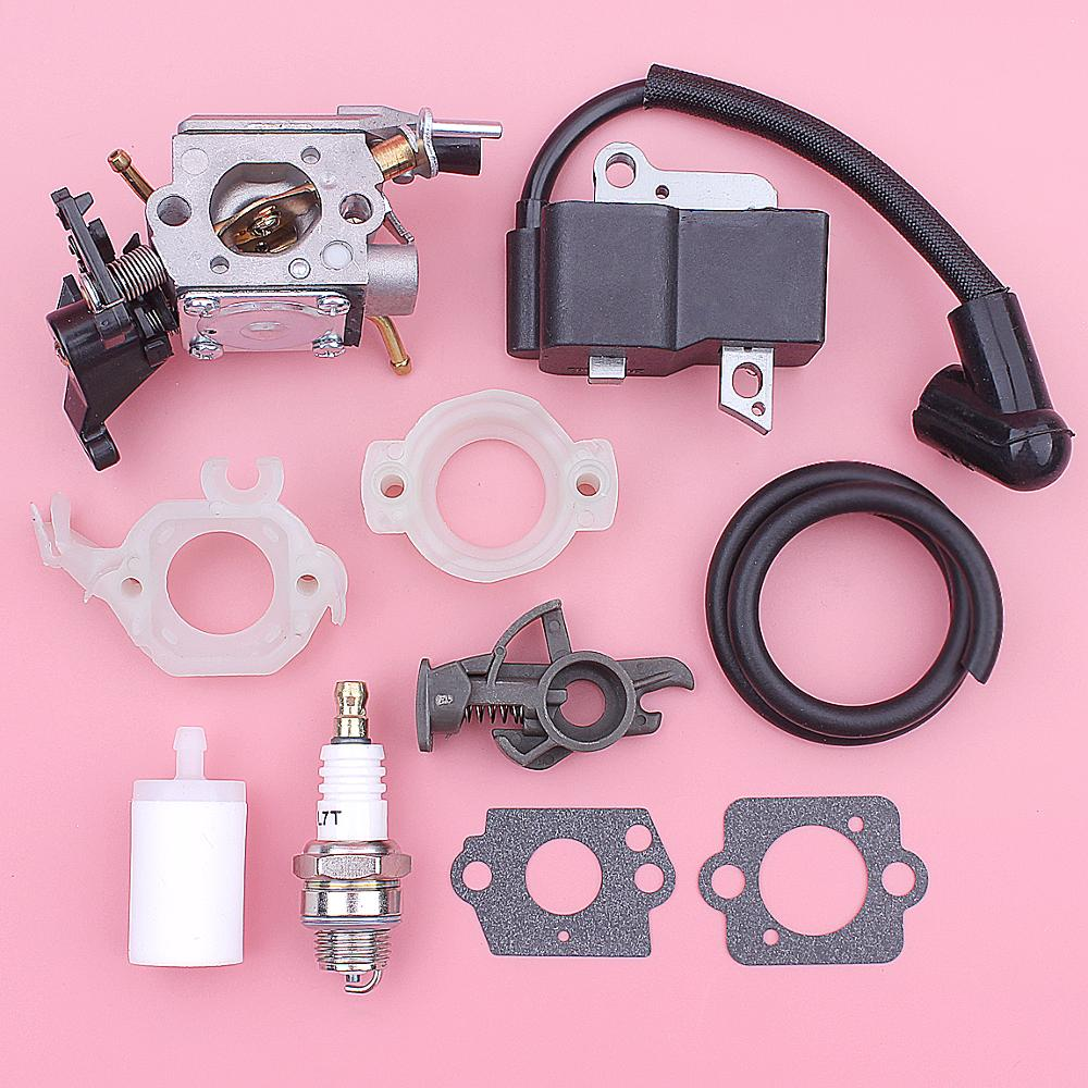 Carburetor Ignition Coil Fuel Filter Line For Husqvarna 445 450 Chainsaws 573935701 506450401 Intake Flange Carb Gasket
