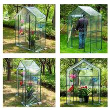 DIY PVC Walk-in Greenhouse Plant Cover 143x73x195cm Home Outdoor Flower Plant Ga