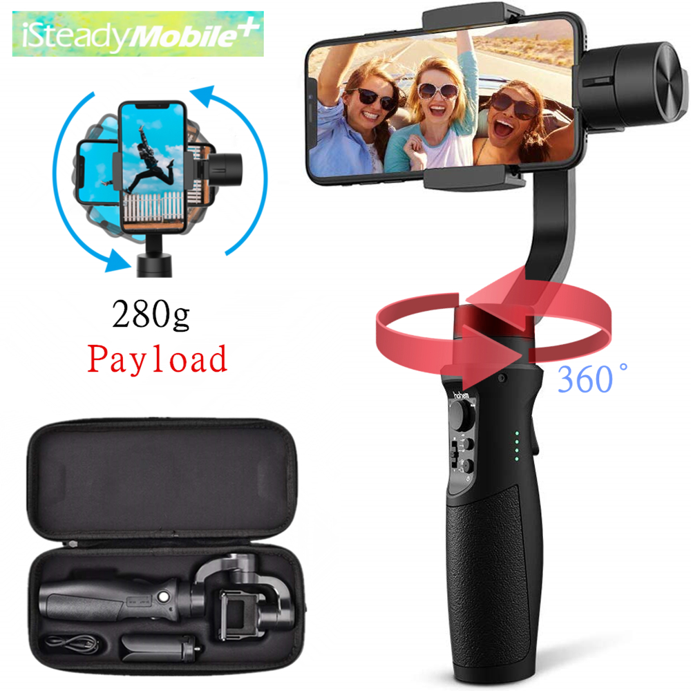 Hohem iSteady Mobile Plus Smartphone Gimbal 3-Axis Handheld Stabilizer for iPhone11Pro/Max, for Android Smartphones, Samsung S10 - ANKUX Tech Co., Ltd