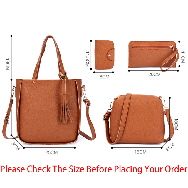 Four-Piece Shoulder Bag