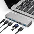 BRU Usb C Hub Für Macbook Pro Adapter Usb Typ C Hub 3,0 Tf Sd Reader Slot Pd Für Macbook pro/air 2020 USB Hubs