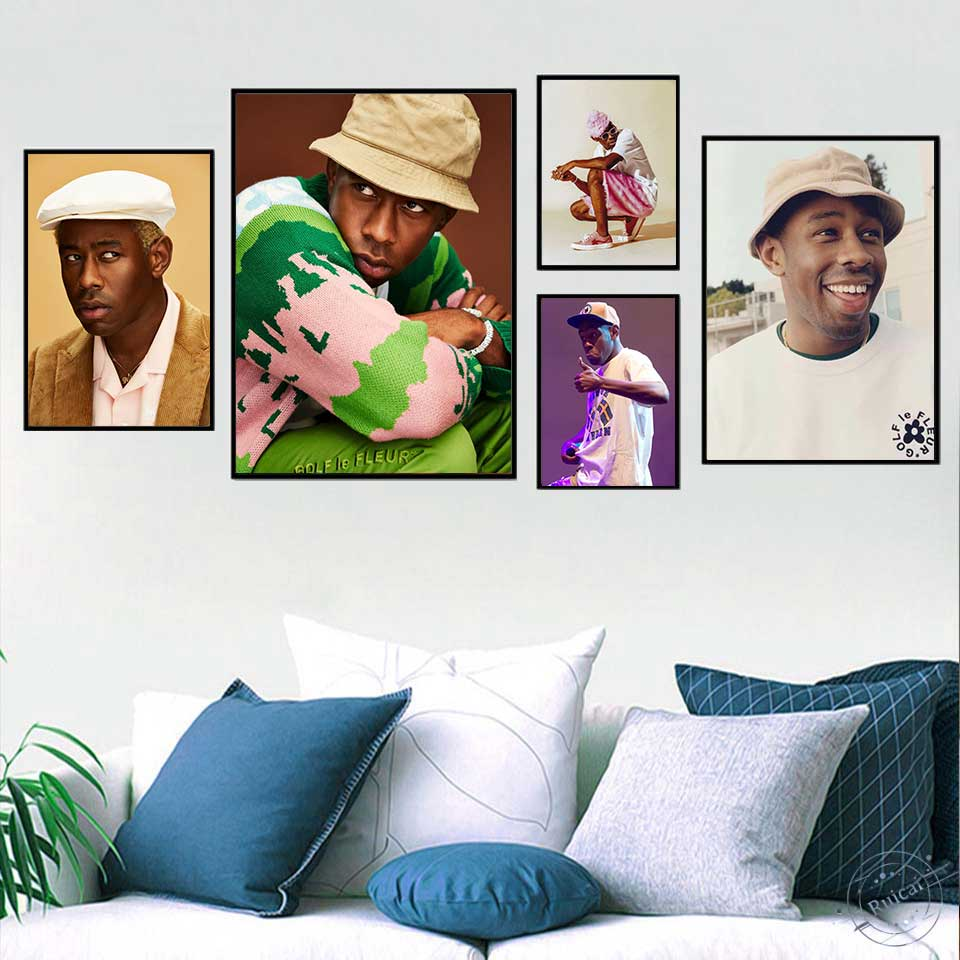 Tyler the Creator Poster Hip Hop Rap Music Rapper Model Wall Art Painting Silk Canvas Posters and Prints For Living Room Decor