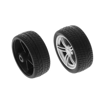 4pcs Simulation Rubber Wheel Tire Wheel Toy Model DIY RC Spare Parts GXMB image