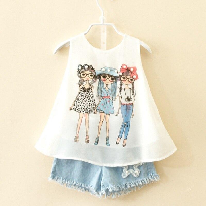 2020 verão marca terno para crianças meninas moda bebê chiffon colete shorts definir roupas da menina da criança 3 8 10 anos