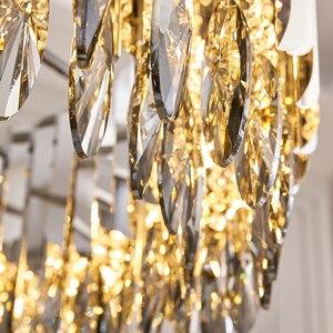 Image 5 - Kristal avize krom dekoratif avize restoran otel lambası oturma odası için