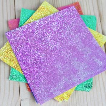 DIY scrapbooking rzemiosło jednolity kolor kwadratowy dla dzieci prezent dla dzieci 50 sztuk papier origami jednej stronie błyszczące ręcznie składane 5 dla każdego koloru tanie i dobre opinie Paper