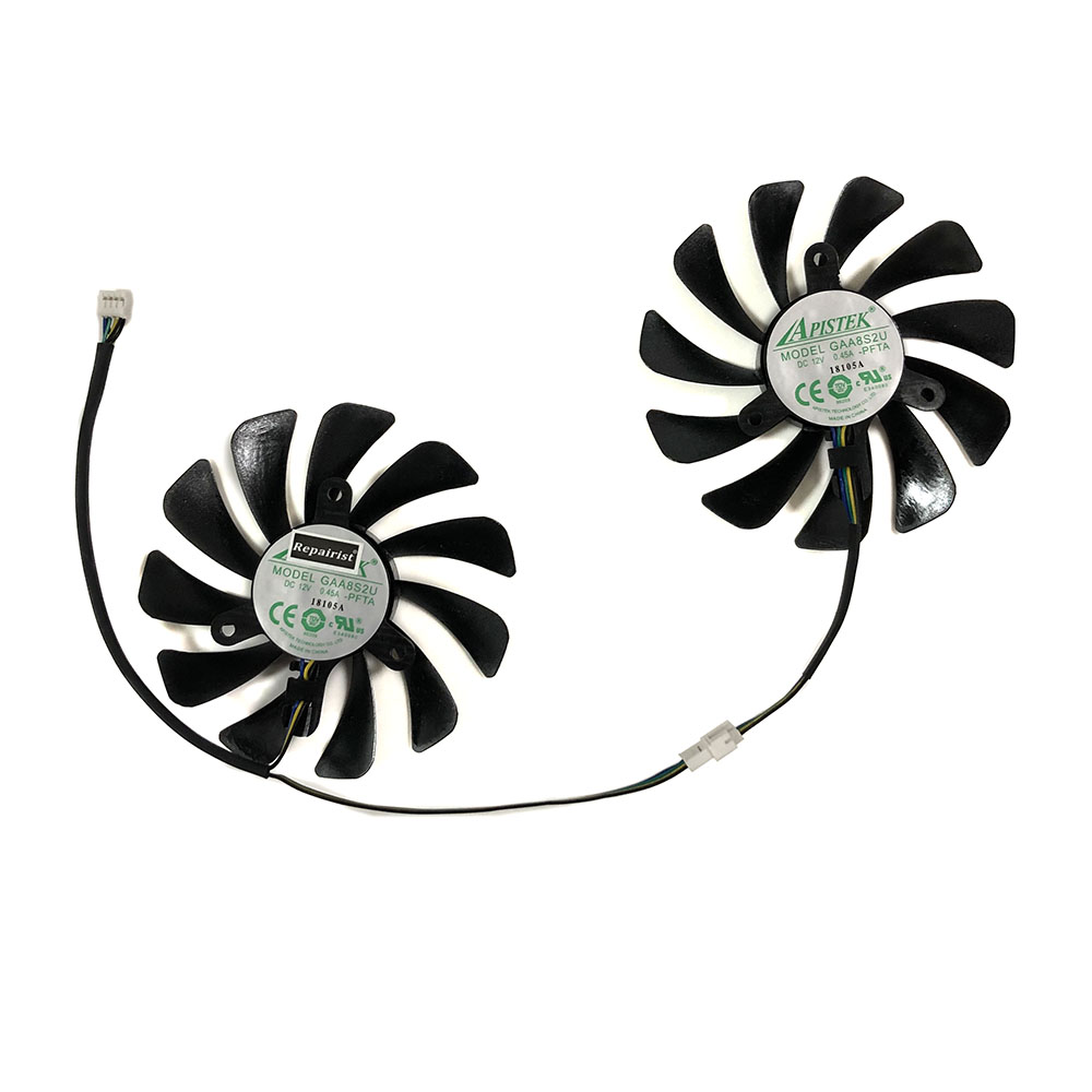 2pcs/set 95MM GAA8S2U GTX 1070Ti/1080Ti GPU VGA Cooler Fan For ZOTAC <font><b>GeForce</b></font> <font><b>GTX1070Ti</b></font> GTX1080Ti AMP Core Video Cards Cooling image