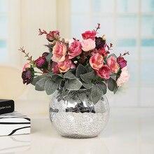 Ваза для цветов Скандинавское украшение домашняя настольная стеклянная ваза для свадебного украшения Гидропонные цветы горшок нежные напольные вазы ZZY052
