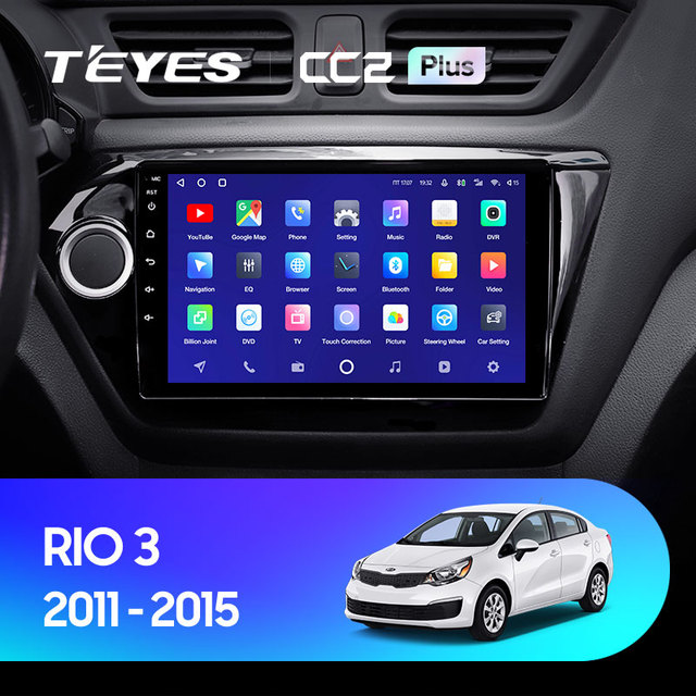 TEYES CC2L и CC2 Plus Штатная магнитола For Киа Рио 3 4 For Kia RIO 3 4 2011 - 2019 Android до 8-ЯДЕР до 6 + 128ГБ 16*2EQ + DSP 2DIN автомагнитола 2 DIN DVD GPS мультимедиа автомобиля головное устройство 2