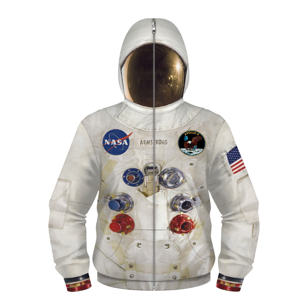 DIY New 3D Armstrong Space Suite Hoodie Sweatshirt Kids Hoodies Casual Sweatshirt Cute Coseplay Astronaut Spacesuit Hoodies